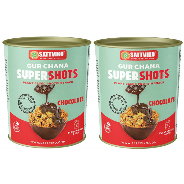 Sattviko Chocolate Gur Chana, 2 Jars, 160 g, 320 g...
