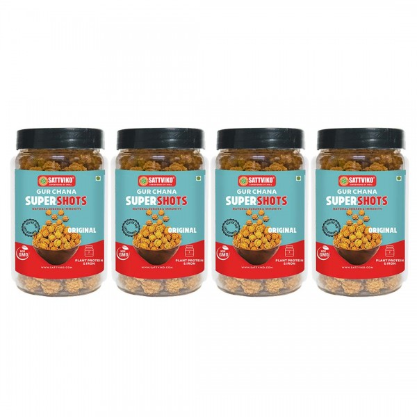 Sattviko - Gur Chana Supershots Pack of 4
