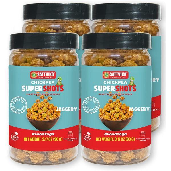 Sweet Chickpeas Snacks Veggie Crisps -  4 x 3.2 Oz...
