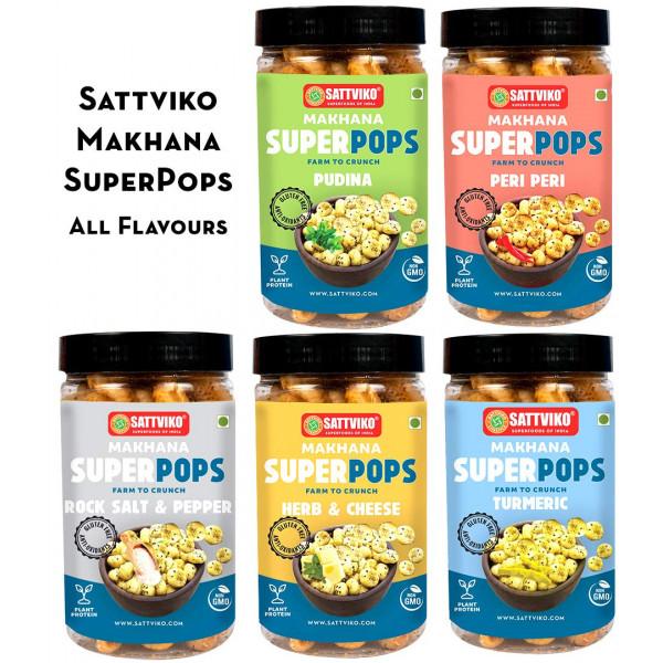 Sattviko All Flavors Jar Combo- Peri Peri, Pudina,...