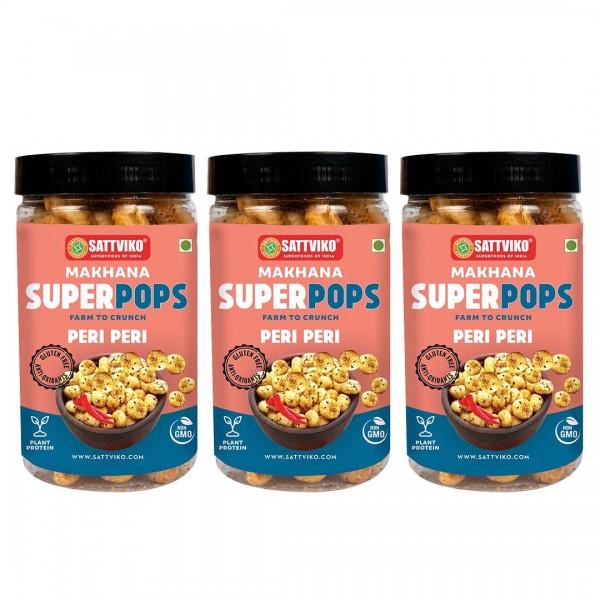 Sattviko - Peri Peri Makhana Superpops Pack of 3 |...