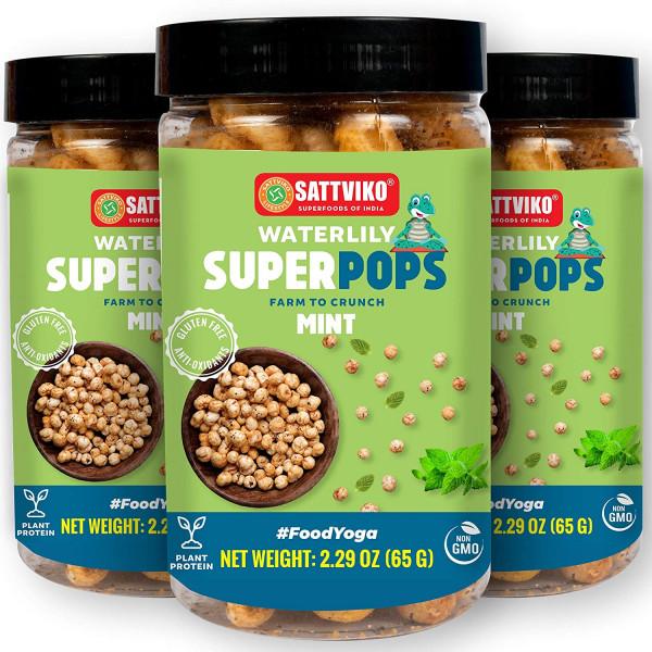 Mint Waterlily Superpops 3 Jars of 2.47 Oz each, 7...