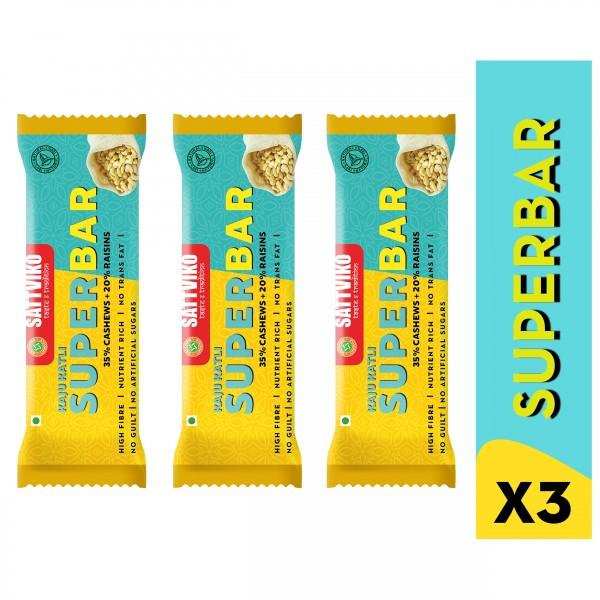 Sattviko Kaju Katli Superbar Pack of 3 | Cashew Ba...