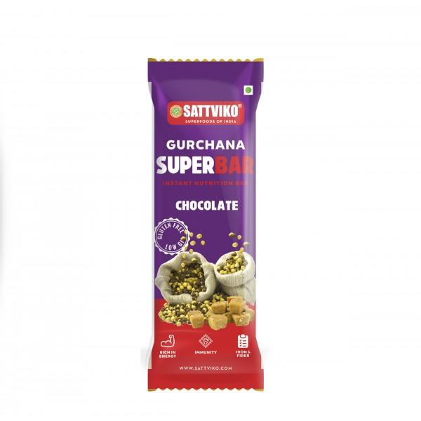 Sattviko Gur Chana Superbar Pack of 7 | High Natural Protein | Gram Flour, Jaggery, Oats, Almonds