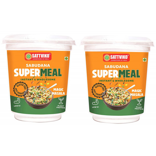 Sattviko Sabudana Supermeal Magic Masala 2 Cups, w...