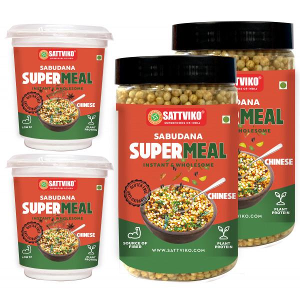 Sattviko Sabudana Supermeal Schezwan, 9 Meals, 590...