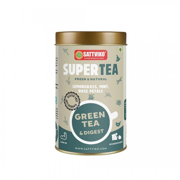 Sattviko SuperTea - Green Tea Digest, Ayurvedic Bl...