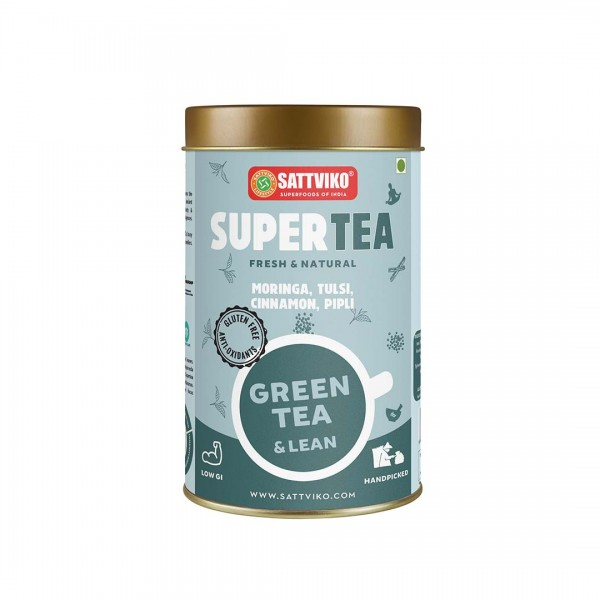 Sattviko SuperTea - Green Tea Lean, Ayurvedic Blen...