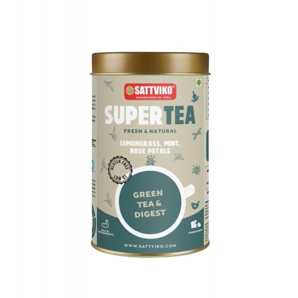 Sattviko TeaYoga - Green Tea Digest, Ayurvedic Ble...