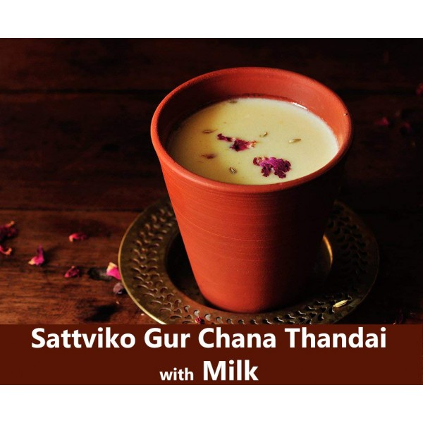 Sattviko Gur Chana Thandai 150g | Sattu Thandai | 20 Cups