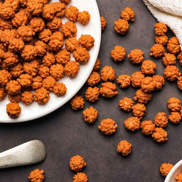 Sweet Chickpeas Snacks Veggie Crisps -  4 x 3.2 Oz Jar | Gur Chana | Foodyoga