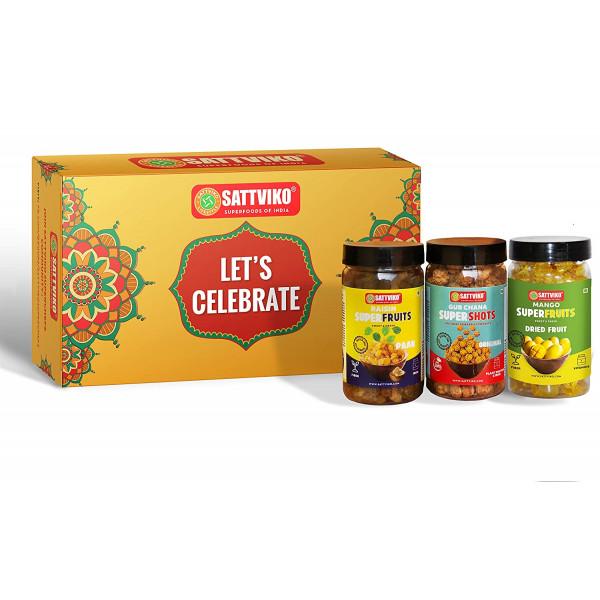 Sattviko Premium Diwali Gift Box   Gur Chana, Dry ...