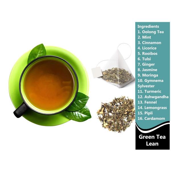 Green Tea Lean - Green Tea Fat Burner | 3 Jars, 1.41 Oz Each, 4.23 Oz, 60 Pyramid Tea Bags (3x20)