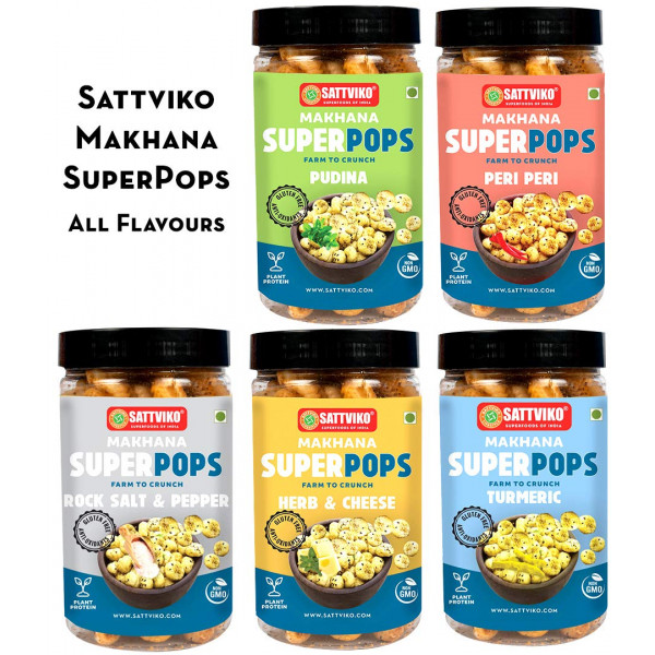 Sattviko - Peri Peri Makhana Superpops Pack of 3 | Healthy Snacks