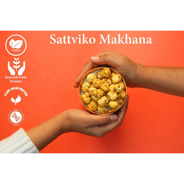 Sattviko Herb & Cheese Makhana Superpops Jars 70 (Pack of 3 Jars of 70gm Each)