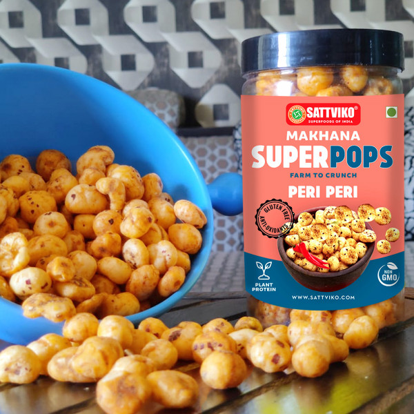 Sattviko - Peri Peri Makhana Superpops Pack of 3   Healthy Snacks