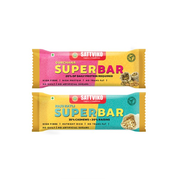 Sattviko Gur Chana and Kaju Katli Superbar (Trial ...